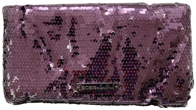 Item - Metallic and Silver Purse Purple Plum Sequin Clutch