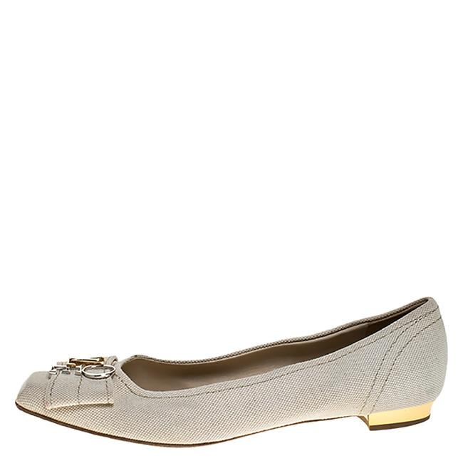 Item - Cream Off-white Canvas Love Logo Ballet 39.5 Flats Size US 9.5 Narrow (Aa, N)