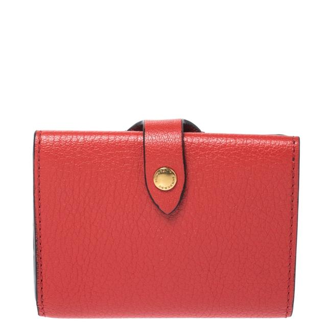 Burberry Red Leather Small Harlow Wallet Burberry Red Leather Small Harlow Wallet Image 1