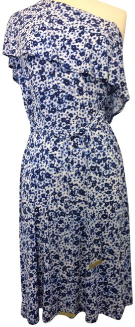 Preload https://img-static.tradesy.com/item/27087264/blue-and-white-l-royal-floral-one-shoulder-jersey-mid-length-casual-maxi-dress-size-12-l-0-1-650-650.jpg