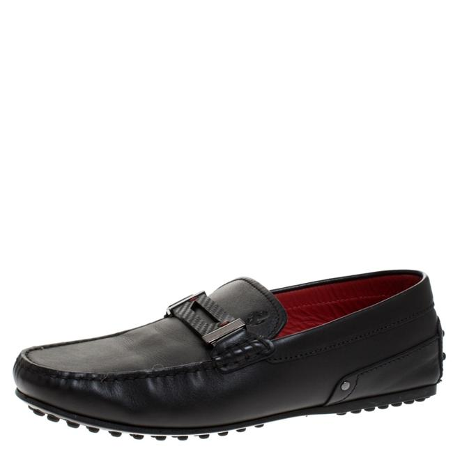 Tod's Black For Ferrari Leather Loafers 38.5 Flats Size US 8 Regular (M, B) Tod's Black For Ferrari Leather Loafers 38.5 Flats Size US 8 Regular (M, B) Image 1