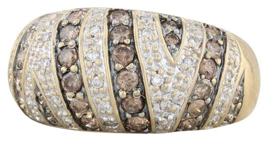 Preload https://img-static.tradesy.com/item/27087299/yellow-gold-074ctw-champagne-and-white-diamond-18k-size-6-ring-0-1-540-540.jpg