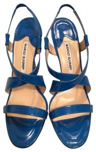 Manolo Blahnik Blue Sandals
