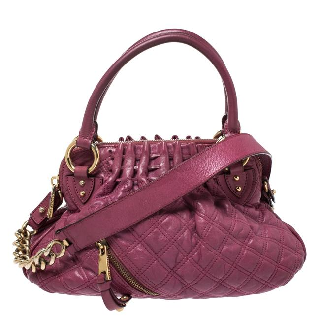 Marc Jacobs Quilted Cecilia Pink Leather Satchel Marc Jacobs Quilted Cecilia Pink Leather Satchel Image 1