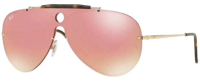 Ray-Ban Gold Frame & Pink Mirrored Lens Rb3581n 001/E4 32 Unisex Aviator Sunglasses Ray-Ban Gold Frame & Pink Mirrored Lens Rb3581n 001/E4 32 Unisex Aviator Sunglasses Image 1