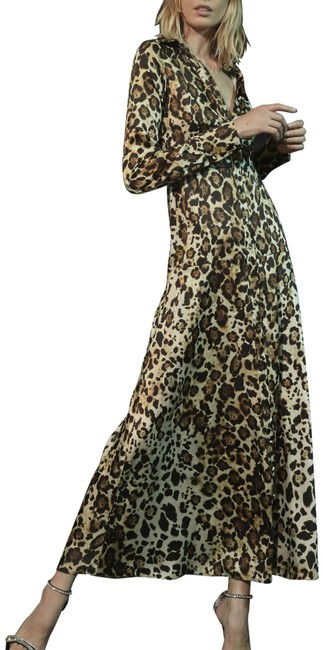Alexis Brown Leopard XS Synthetic Onika Sleeve Maxi Long Night Out Dress Size 0 (XS) Alexis Brown Leopard XS Synthetic Onika Sleeve Maxi Long Night Out Dress Size 0 (XS) Image 1