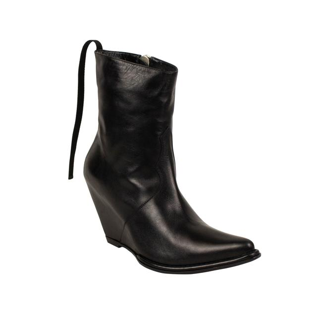 Unravel Project Black Leather Western Low Boots/Booties Size EU 40 (Approx. US 10) Regular (M, B) Unravel Project Black Leather Western Low Boots/Booties Size EU 40 (Approx. US 10) Regular (M, B) Image 1