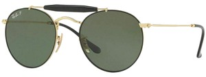 Ray-Ban Green Polarized Lens RB3747 900058 Unisex Round