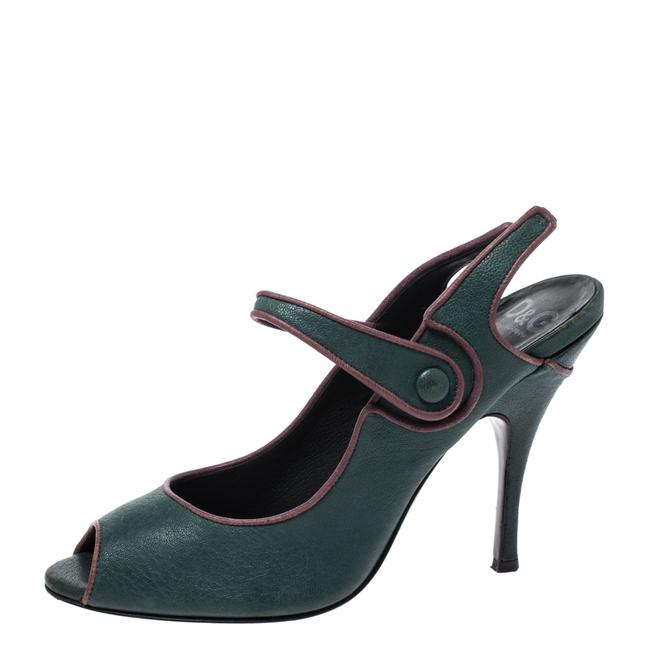 Dolce&Gabbana Green Leather Mary Jane 40 Pumps Size US 9.5 Regular (M, B) Dolce&Gabbana Green Leather Mary Jane 40 Pumps Size US 9.5 Regular (M, B) Image 1