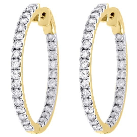 Preload https://img-static.tradesy.com/item/27087639/jewelry-for-less-yellow-gold-10k-diamond-in-and-out-hoops-round-hinged-ct-earrings-0-0-540-540.jpg