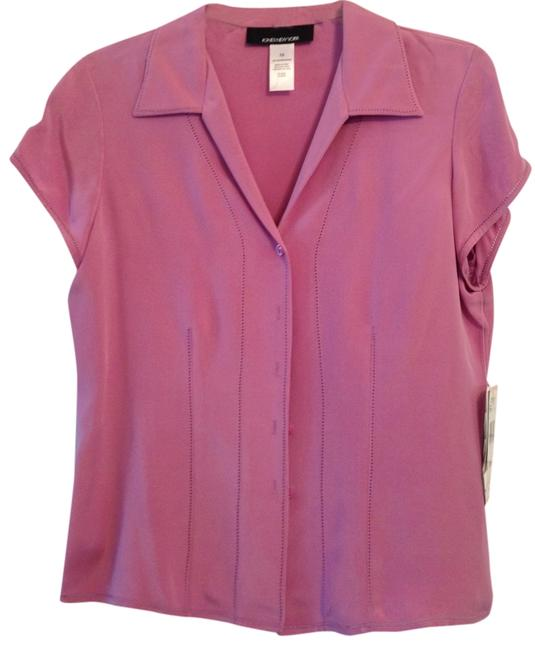 Jones New York Pink Silk Button Down Shirt Rose, pink