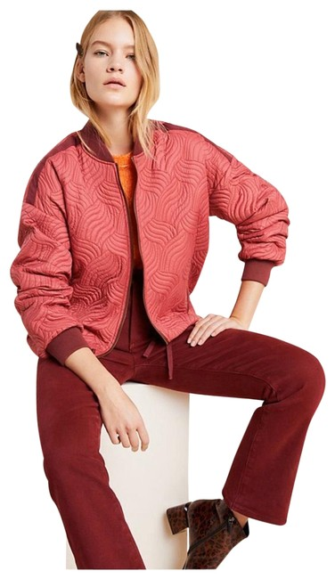 Item - Pink Vicenta Quilted Bomber Jacket Size 12 (L)