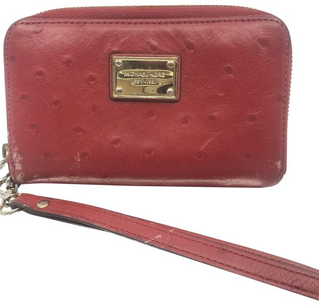 Item - Red Ostrich Leather Wristlet