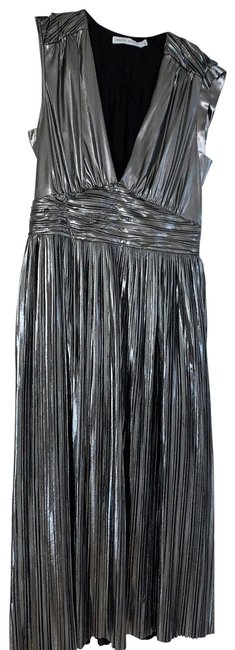 Item - Silver 23456 Mid-length Cocktail Dress Size 4 (S)