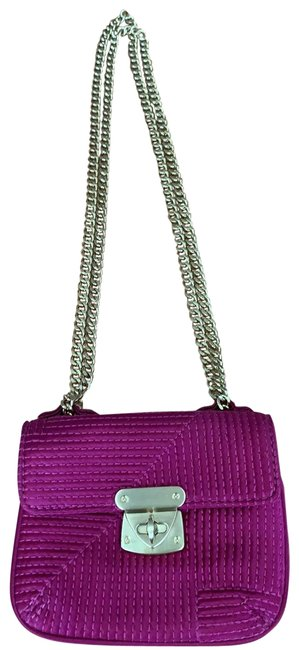 Item - Chain Small Pink Satin Cross Body Bag