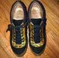 Chanel Black/Brown/Gold Runway Tweed Sneakers Size US 9 Regular (M, B) Chanel Black/Brown/Gold Runway Tweed Sneakers Size US 9 Regular (M, B) Image 2
