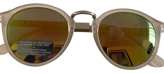 Item - Nude/Pink/Silver/Gold Mirrored Round Glasses Sunglasses