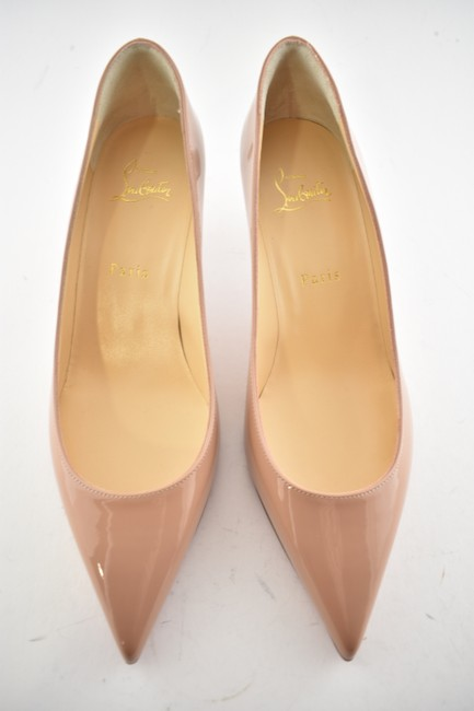 Christian Louboutin Kate 100 Classic Nude Patent Pigalle