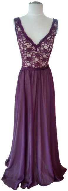 Item - Eggplant Style # 714 Long Formal Dress Size 12 (L)