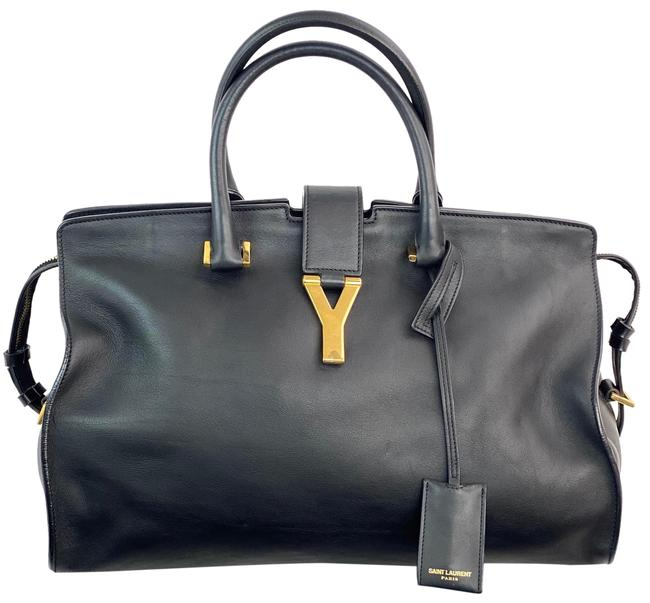 Item - YSL Cabas Calfskin Medium Classic Y B159 Black Leather Tote
