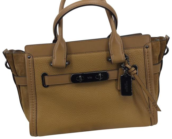 Item - Swagger Saddle 27 Mixed Light #59505 Tan Leather/Suede Satchel