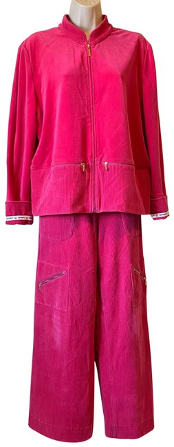 Item - Hot Pink Marie Gray Exquisite Tracksuit Jacket Size 12 (L)