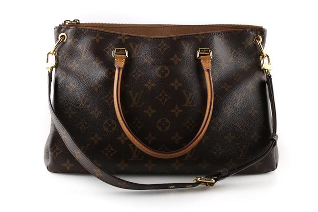Item - Pallas Brown Monogram Canvas Satchel