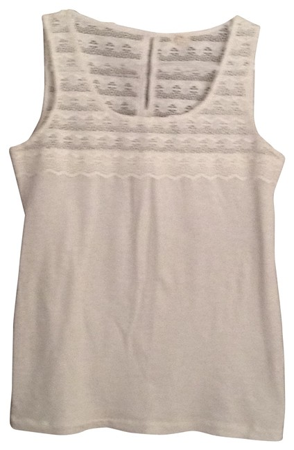 Preload https://item1.tradesy.com/images/jcrew-ivory-lace-smocked-tank-topcami-size-2-xs-27090-0-0.jpg?width=400&height=650