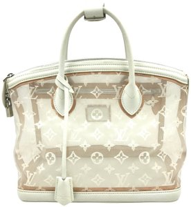 Louis Vuitton Limited Edition Monogram Tote in White