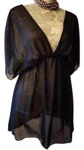 MIKEN MIKEN black Sheer Cover-UP