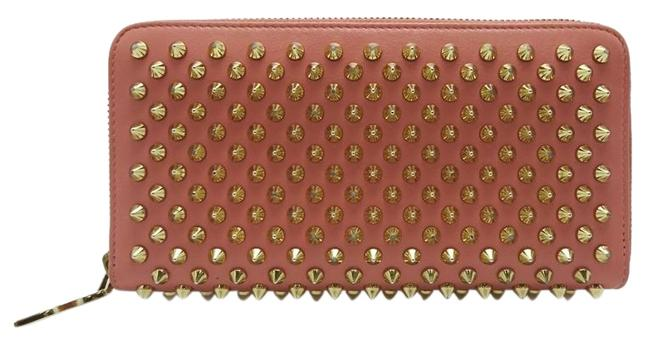 Item - Black / Pink Studs Zipper Ladies Long Calf Dh56114 Wallet