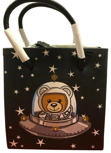 Item - Aw18 Couture Jeremy Scott Ufo Teddy Multicolor Eco Leather Tote