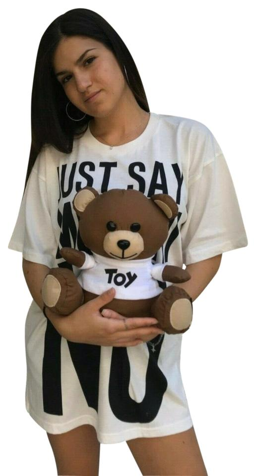 AW17 Moschino Couture Jeremy Scott BLACK Umbrella Inserted inside a Teddy Bear