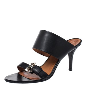 Givenchy Leather Detail Black Sandals