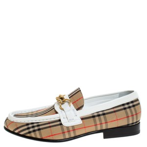 Burberry Canvas Leather Beige Flats