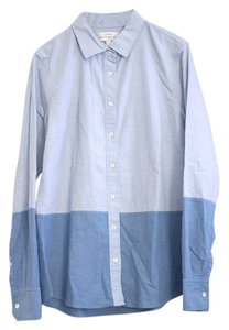J.Crew Color-blocking Button Down Shirt Blue