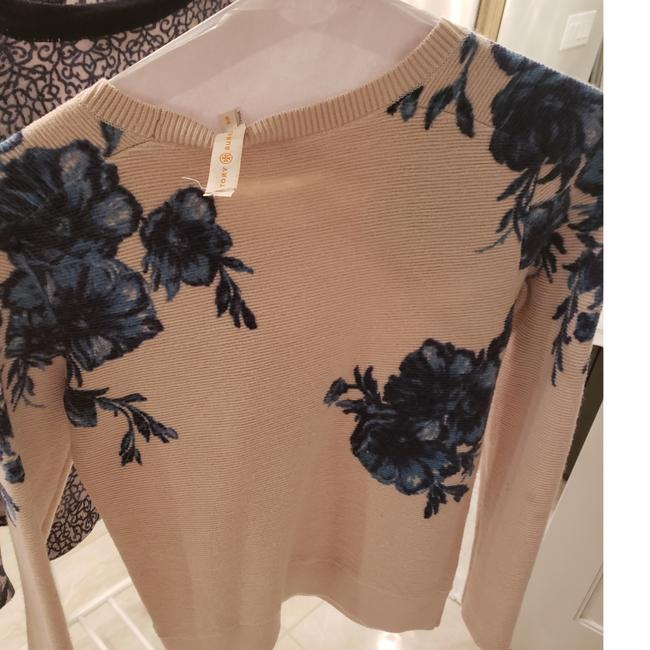 Item - Beige with Blue Flowers/ Blue / and Blue with Navy Blue This Is Amazing Sweater