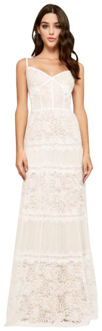 Item - White & Nude Tatiana Strap Lace Gown Long Cocktail Dress Size 6 (S)