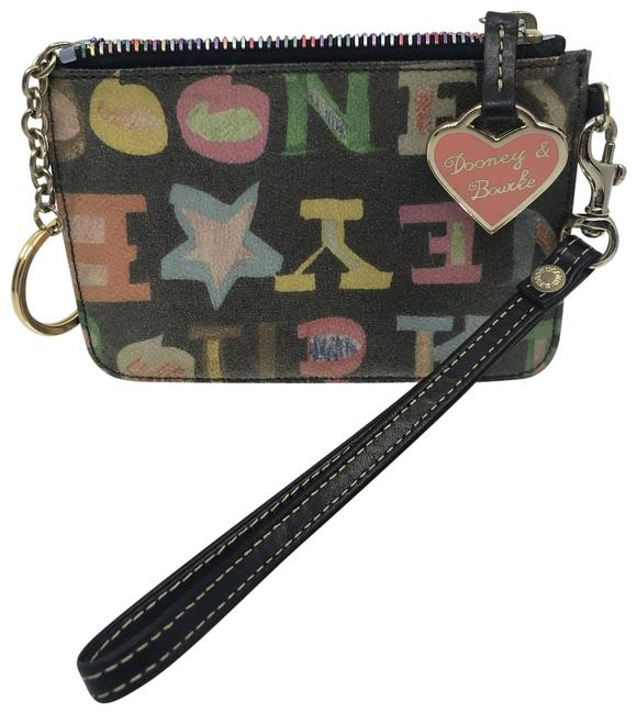 Item - Multi Color Leather Wristlet