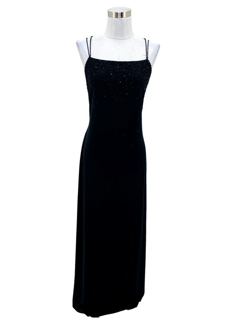 Item - Black N834 80's Vintage Small Sequin Maxi Long Formal Dress Size 6 (S)