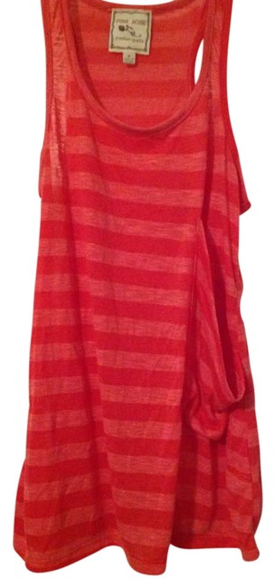 Pink Rose Summer Casual Striped Flowy Top Pink