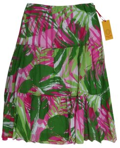 Ruby Rd. Nwt Tropical Summer Beach Maxi Skirt Multi Color