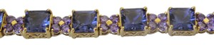 Technibond RARE Technibond Princess-Cut Simulated Tanzanite Line Bracelet 8