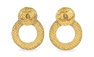 Chanel CC Woven Embossed Two-Loop