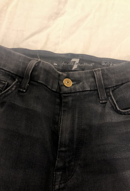 7 For All Mankind Dark Gray Rinse Seven High Waist Ankle Skinny Jeans Size 4 (S, 27) 7 For All Mankind Dark Gray Rinse Seven High Waist Ankle Skinny Jeans Size 4 (S, 27) Image 4