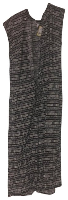 Item - Black and White Disco Mid-length Night Out Dress Size Petite 14 (L)