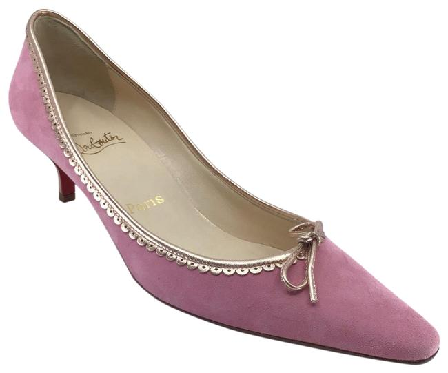 Item - Pale Pink/ Rose Gold Suede with Leather Trim Pumps Size US 9 Regular (M, B)