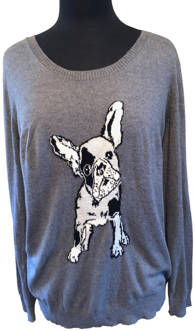 Item - With French Bulldog Gray Sweater