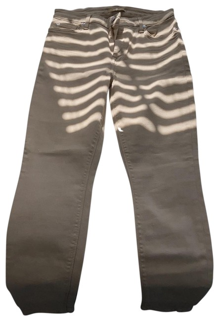 Item - Nude Coated Skinny Jeans Size 6 (S, 28)
