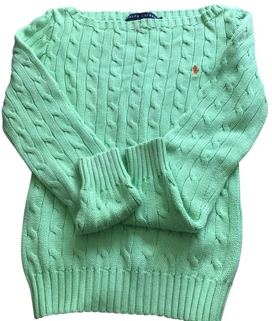 Item - Cable Knit Light Green Sweater
